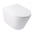 Подвесной безободковый унитаз с сидением дюропласт softclose Q-tap Swan WHI 5178 белый