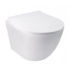 Подвесной безободковый унитаз с сидением дюропласт softclose Q-tap Jay WHI 5176 белый