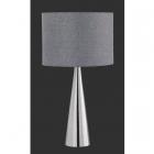 Настольная лампа Trio Cosinus 556500107 матовый никель/серая ткань