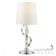 Настольная LED-лампа Trio Cannes II 522970206 хром/прозрачное стекло/белая ткань