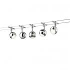 Трековый спот на 5 LED-ламп Trio Baloubet 778210506 хром