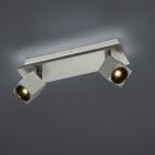 Спот на 2 LED-лампы Trio Cuba 828510307 матовый никель