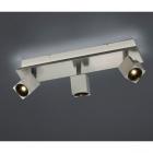 Спот на 3 LED-лампы Trio Cuba 828510407 матовый никель
