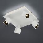 Спот на 4 LED-лампы Trio Cuba 828530531 матовый белый