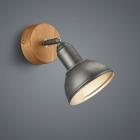 Настенный светильник Trio Delhi 803400167 дерево/никель антик