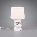 Настольная лампа Trio Reality Dosy R50231001 белая керамика/белая ткань