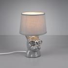 Настольная лампа Trio Reality Dosy R50231011 серая керамика/серая ткань