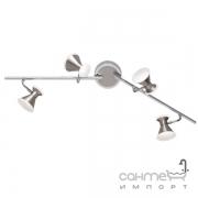 Спот на 4 LED-лампы Trio Duke 872110407 матовый никель
