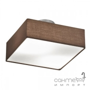 Потолочный светильник Trio Embassy 603800214 матовый никель/коричневая ткань