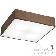 Потолочный светильник Trio Embassy 603800414 матовый никель/коричневая ткань