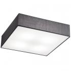 Потолочный светильник Trio Embassy 603800487 матовый никель/серая ткань