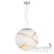 Люстра Trio Faro 306190131 хром/белое стекло