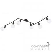 Спот на 6 LED-ламп Trio Freddy 824810628 металл антик руст/белое стекло