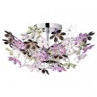 Люстра Trio Reality Flower R60014017 хром/цветные кристаллы