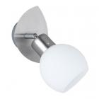 Настенный LED-светильник Trio Freddy 824810107 матовый никель/белое стекло