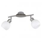 Спот на 2 LED-лампы Trio Freddy 824810207 матовый никель/белое стекло