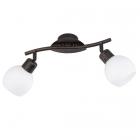 Спот на 2 LED-лампы Trio Freddy 824810228 металл антик руст/белое стекло
