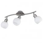 Спот на 3 LED-лампы Trio Freddy 824810307 матовый никель/белое стекло