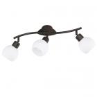 Спот на 3 LED-лампы Trio Freddy 824810328 металл антик руст/белое стекло