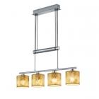 Люстра-подвес Trio Garda 305400479 матовый никель/ткань золото