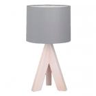 Настольная лампа Trio Reality Ging R50741042 дерево/серая ткань