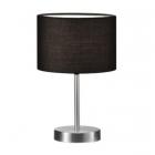 Настольная лампа Trio Hotel 501100102 матовый никель/черная ткань