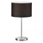 Настольная лампа Trio Hotel 511100102 матовый никель/черная ткань