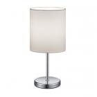 Настольная лампа Trio Reality Jerry R50491001 хром/белая ткань