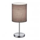Настольная лампа Trio Reality Jerry R50491011 хром/серая ткань