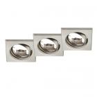 Тройной точечный светильник Trio Jura 650000307 матовый никель