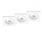Тройной точечный светильник Trio Jura 650000331 матовый белый