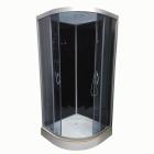 Душевой бокс Atlantis AKL 50P-T ECO GR профиль хром, задние стенки черные, двери тонированные