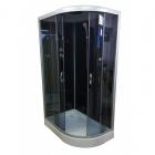 Душевой бокс Atlantis AKL 120P-T ECO GR левосторонняя, профиль хром, задние стенки черные, двери тонированные
