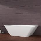 Пристенная ванна из литого камня iStone Sandra WD6545F3 матовый белый камень