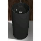 Раковина из искусственного камня цельнолитая с пьедесталом iStone Colleen WD38374 Hight Glossy Black черная