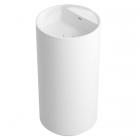 Раковина цельнолитая с пьедесталом без отверстия для смесителя iStone Colleen WD38375 белый камень