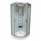 Душевой бокс Veronis BN-5-90 XL профиль хром, задние стенки белые, двери матовые (фабрик)