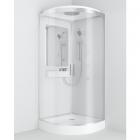 Гидромассажный бокс AM.PM Like 90 W80C-019-090MTA задние стенки белые, профиль матовый хром, стекло прозрачное