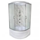 Гидромассажный бокс Vivia TKF90 8039 WG профиль сатин, матовое стекло, задние стенки мрамор
