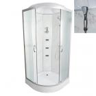 Гидромассажный бокс Vivia TKF90/1 8039 WG профиль сатин, матовое стекло, задние стенки мрамор