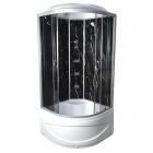 Гидромассажный бокс Vivia TKF90 8042 WG профиль сатин, матовое стекло, задние стенки черный оникс