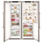 Комбинированный холодильник Side-by-Side Liebherr SBSes 8773 (SKBes 4370 + SGNes 4375) (A+++) нержавеющая сталь