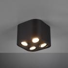 Накладной точечный светильник на 4 лампы Trio Cookie 612900432 матовый черный