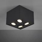 Накладной точечный светильник на 4 лампы Trio Biscuit 613000432 матовый черный