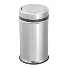 Ведро для мусора с крышкой перевертышем Efor Metal 801 8л хром