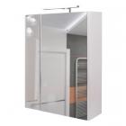 Зеркальный шкафчик с LED-подсветкой Q-tap Albatross WHI ZP600L белый