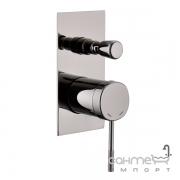 Смеситель для ванны скрытого монтажа Imprese Brenta ZMK091908041 хром графит