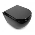 Подвесной безободковый унитаз с сидением softclose дюропласт Newarc Modern Rimless 3823B NEW черный