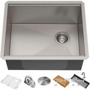 Кухонная мойка c аксессуарами Kraus Kore KWU111-23 584х483 нержавеющая сталь
