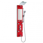 Гидромассажная панель Dusel DU616351R хром/красное стекло